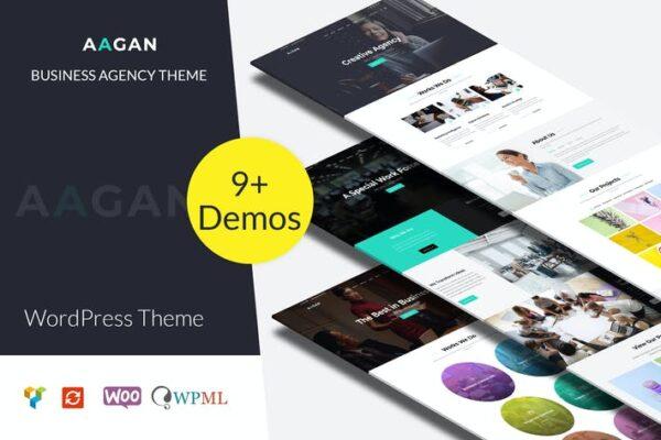 Aagan - Agency, Startup WordPress Theme 1