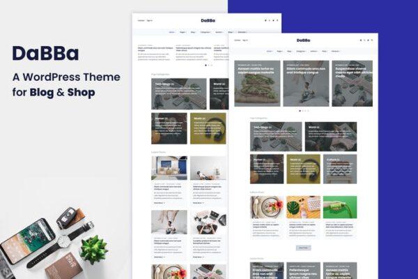 Dabba – A WordPress Theme For Blog & Shop 1