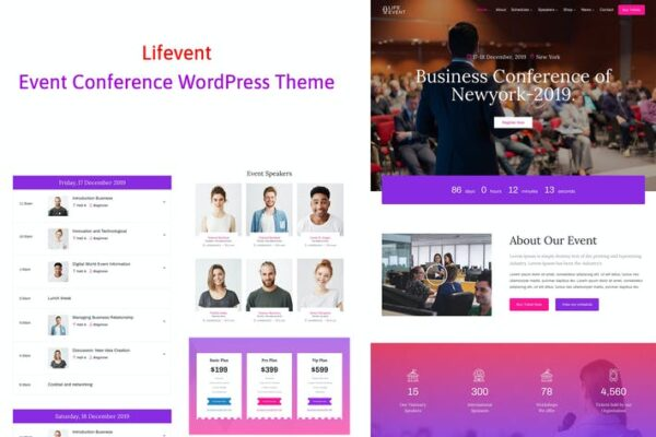 Lifevent - Conference Event WordPress Theme 1
