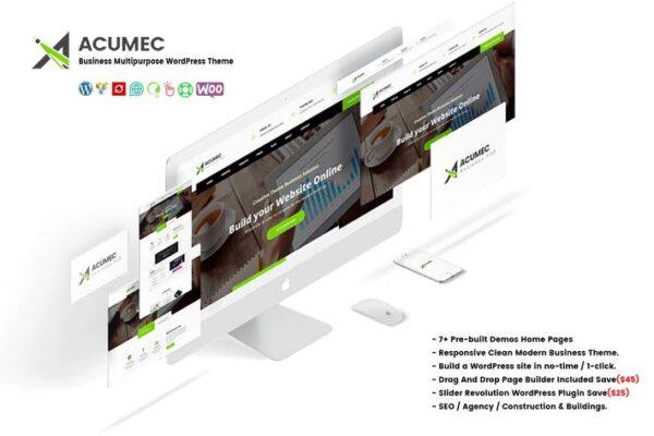 Acumec - Business Multipurpose WordPress Theme 1