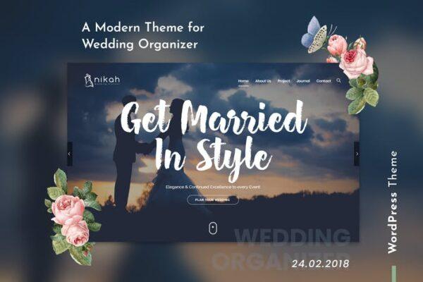 Nikah - Wedding Organizer & Planner WordPress 1