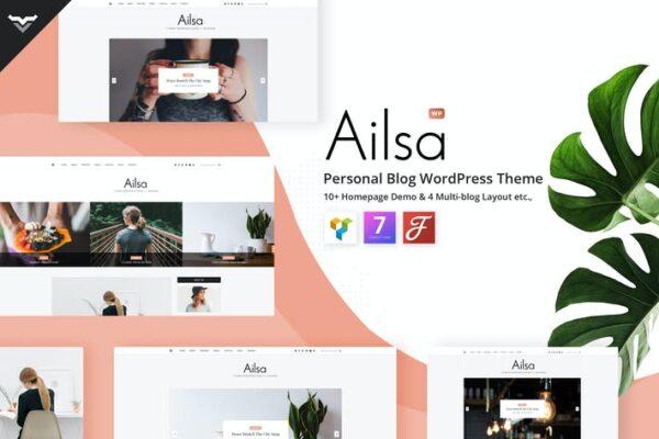 Ailsa - Personal Blog WordPress Theme 1