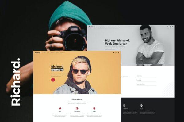 Richard - Onepage Personal WordPress Theme 1