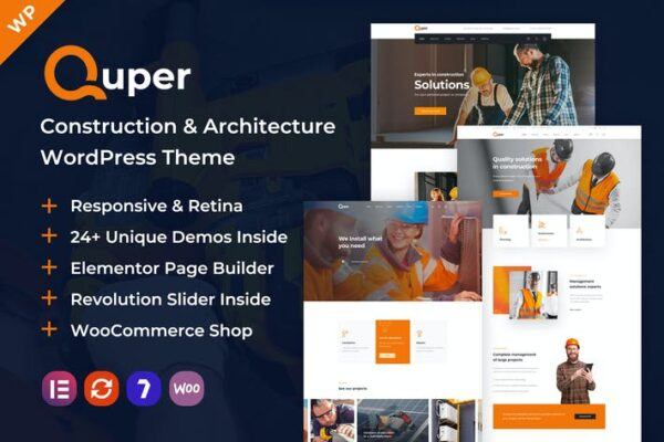 Quper - Construction and Architecture WP Theme 1