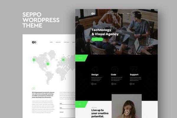 Seppo - Corporate One Page WordPress Theme 1