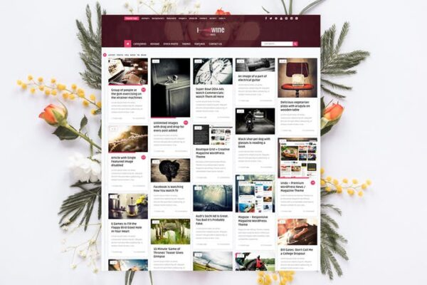 Wine Personal - Creative Blog / News Theme 1