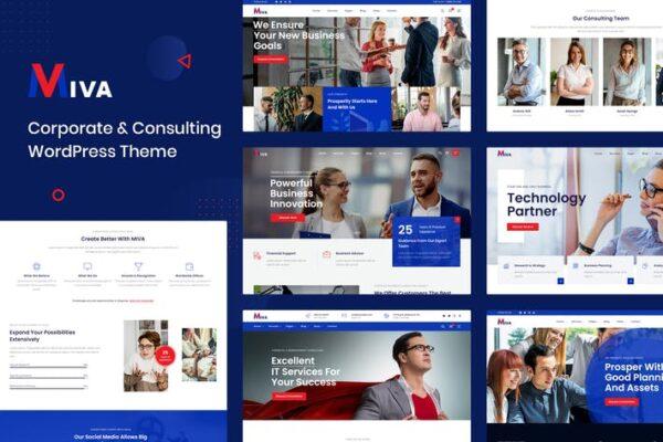 Miva - Business Consulting WordPress Theme 1