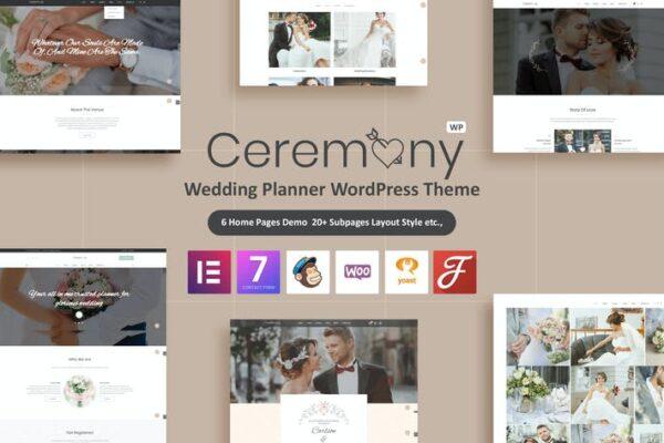 Ceremony - Wedding Planner WordPress Theme 1