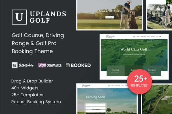 Uplands - Golf Course WordPress Theme 1