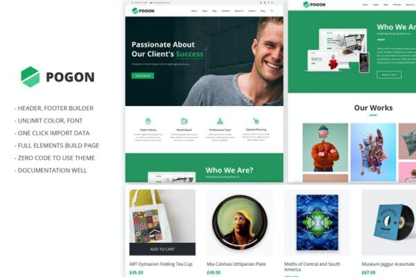 Pogon - Business and Finance Corporate Theme 1