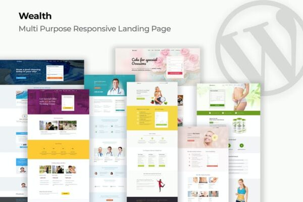 Wealth – Multi-Purpose Landing Page WordPress Them 1