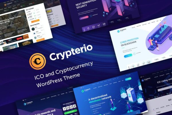 Crypterio - ICO and Cryptocurrency WP Theme 1