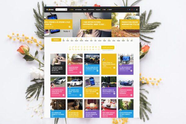 Vloma Grid - Blog / Magazine Video WordPress Theme 1