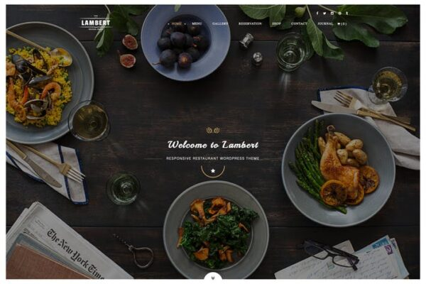 Lambert - Restaurant / Cafe / Pub WordPress Theme 1