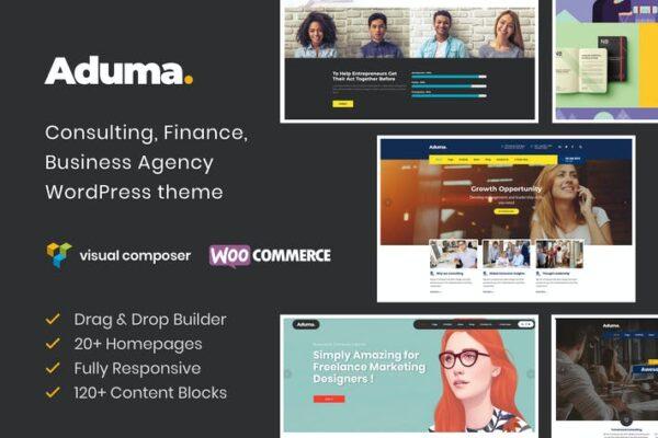 Aduma - Consulting, Finance, Business WP Theme 1