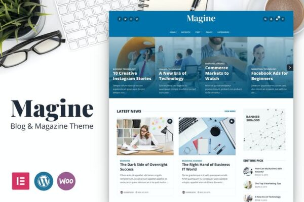 Magine - Business Blog WordPress Theme 1