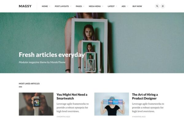 Magsy - Modular Magazine & Blog Theme 1