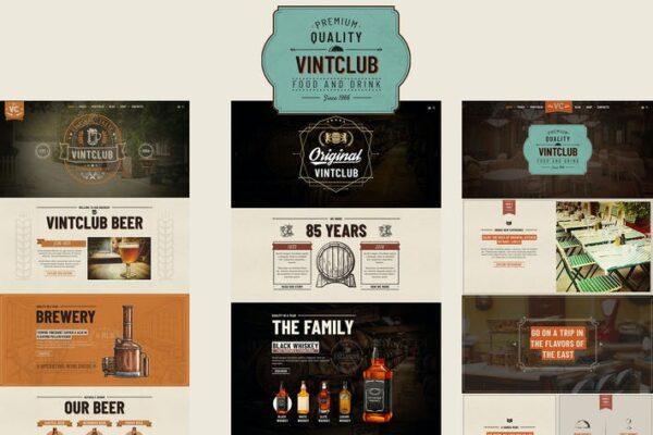 VintClub - A Pub and Whisky Bar WordPress Theme 1