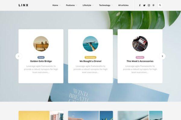 Linx - WordPress Blog & Magazine Theme 1