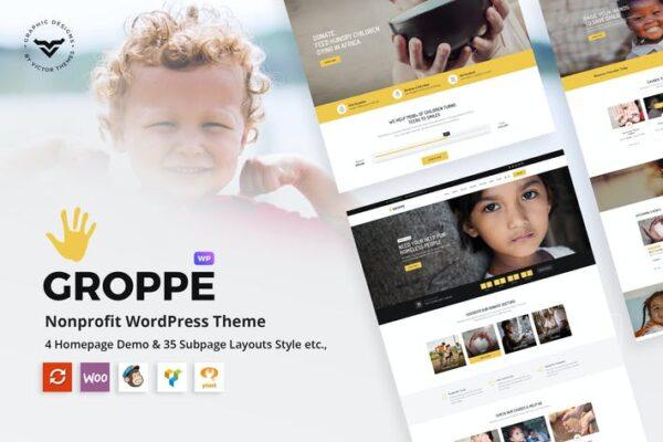 Groppe - Nonprofit WordPress Theme 1