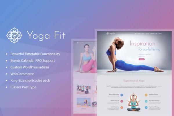 Yoga Fit - Sports, Fitness & Gym WordPress Theme 1