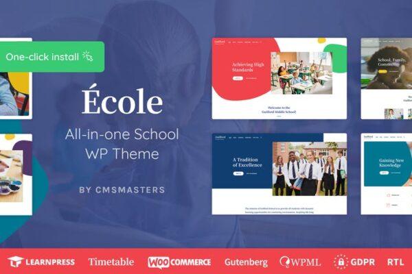 Ecole - Education & School WordPress Theme 1