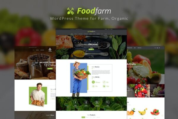 FoodFarm – WordPress Theme for Farm, Organic 1
