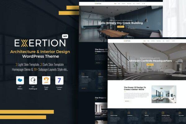 Exertion - Architecture & Interior WordPress Theme 1