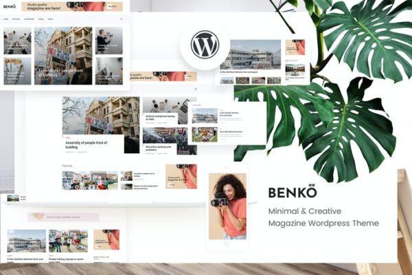Benko - Creative Magazine WordPress Theme 1