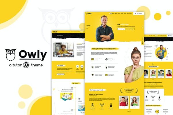 Owly - elearning Education, Tutor WordPress Theme 1
