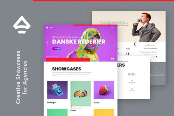 Verno - Creative Showcases for Agencies Theme 1
