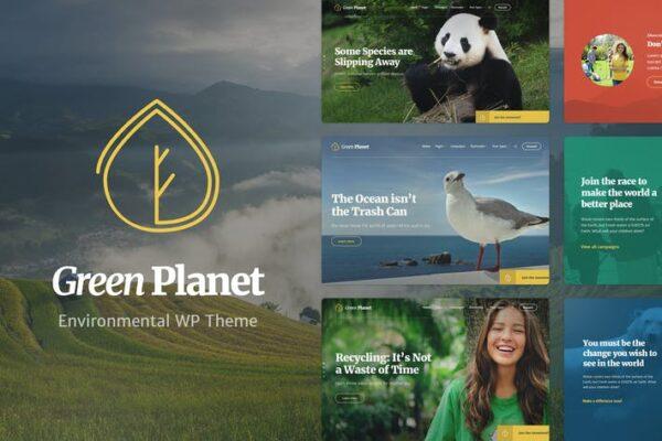 Ecology & Environment WP Theme - Green Planet 1