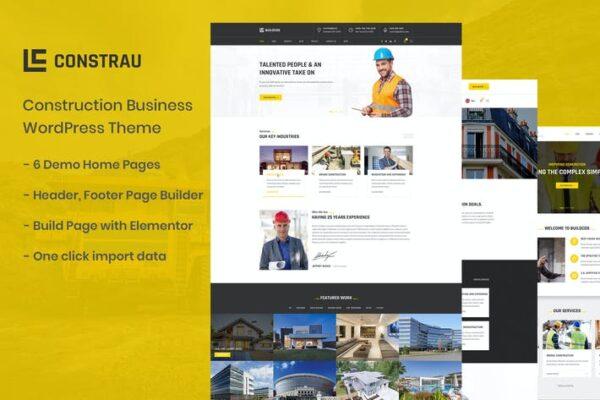 Constrau - Construction Business WordPress Theme 1