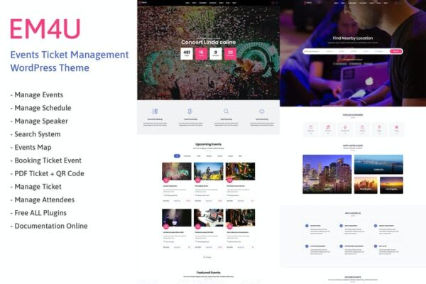 EM4U - Event Tickets WordPress Theme 1