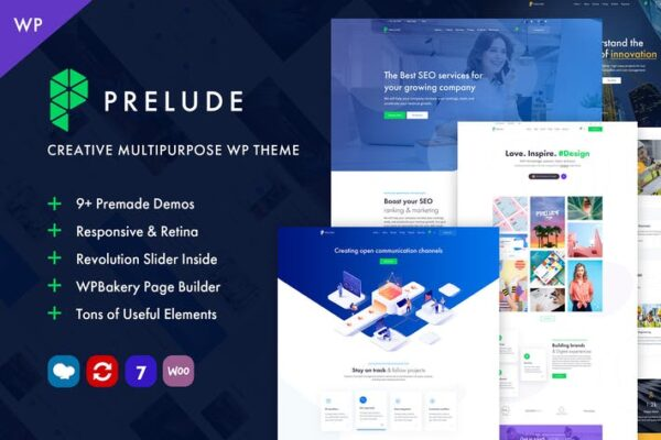 Prelude - Creative Multipurpose WordPress Theme 1