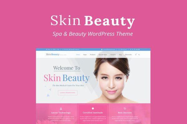 Skin Beauty - Beauty - Spa - Salon WordPress Theme 1