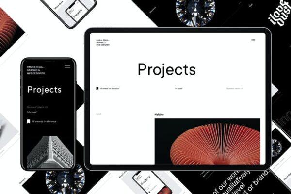 Delia - WordPress Theme For Freelancer + dark mode 1