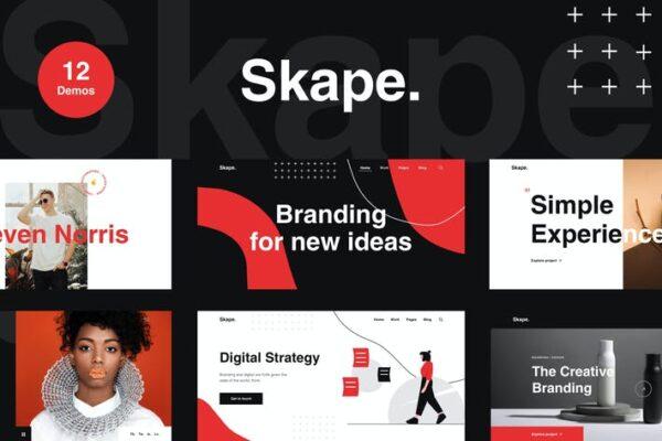 Skape - Creative & Modern Agency WordPress Theme 1
