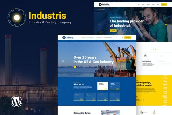 Industris - Factory & Business WordPress Theme 1