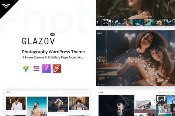Glazov - Photography WordPress Theme 1