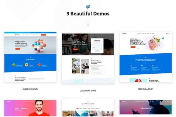 Picozo - Coworking and Portfolio WordPress Theme 1