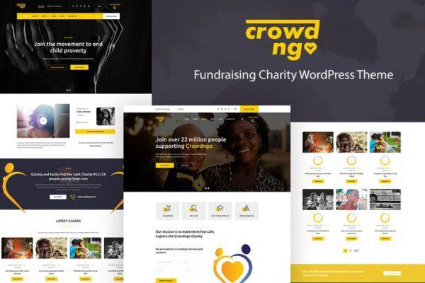 Crowdngo – Fundraising Charity WordPress Theme 1