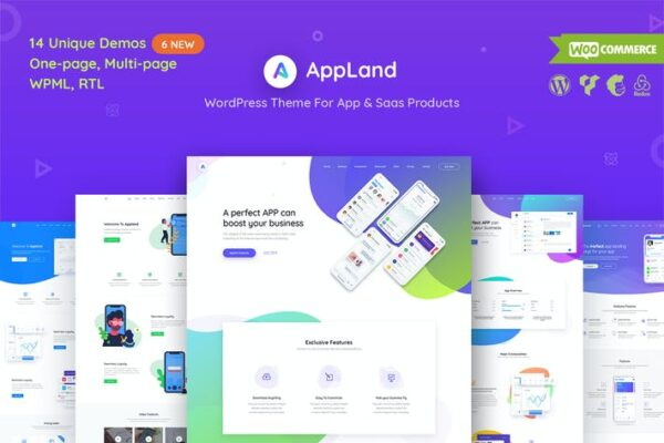 AppLand - WordPress Theme For App & Saas Products 1
