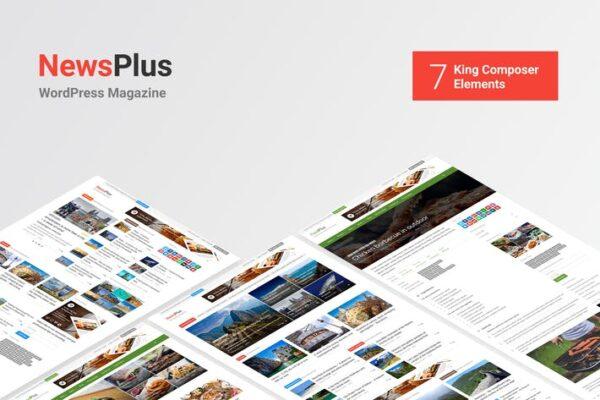 NewsPlus - News and Magazine WordPress theme 1