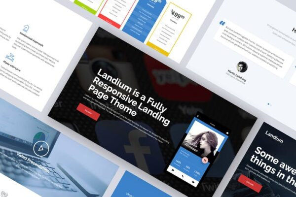 One Page Landing Page WordPress Theme 1