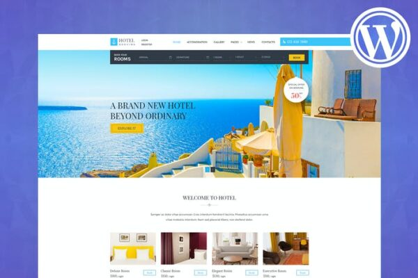 Hotel Booking - Wordpress Theme for Hotels 1