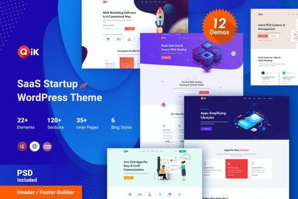 QIK - SaaS Startup WordPress Theme 1