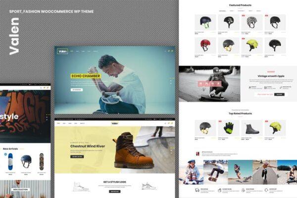 Valen - Sport, Fashion WooCommerce WordPress Theme 1