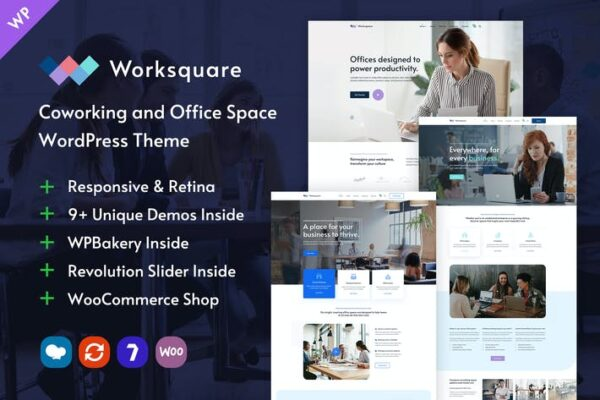 Worksquare - Coworking and Office Space WordPress 1