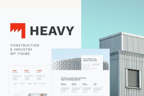 Heavy - Industrial WordPress Theme 1